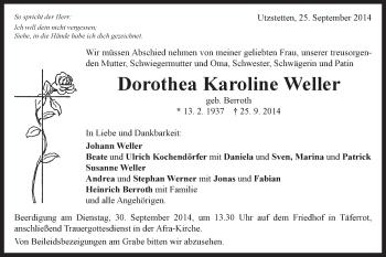 Zur Gedenkseite von Dorothea Karoline