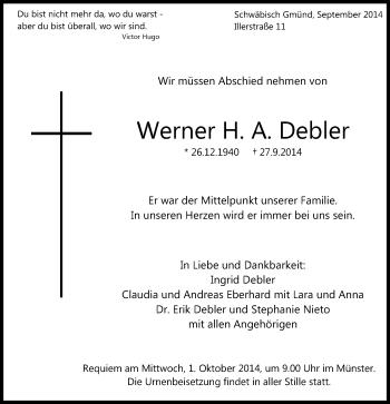 Zur Gedenkseite von Werner H. A.