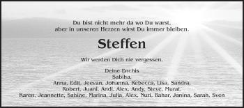 Zur Gedenkseite von Steffen