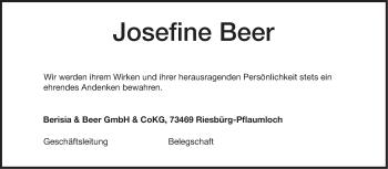 Zur Gedenkseite von Josefine