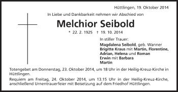 Zur Gedenkseite von Melchior
