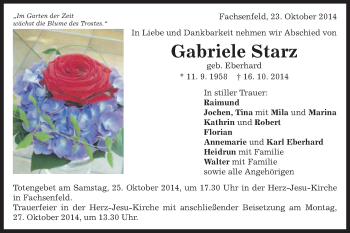 Zur Gedenkseite von Gabriele