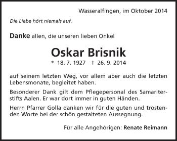 Zur Gedenkseite von Oskar