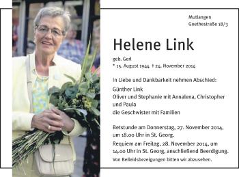 Zur Gedenkseite von Helene