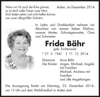 Zur Gedenkseite von Frida