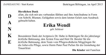 Zur Gedenkseite von Erika