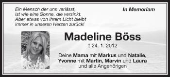 Zur Gedenkseite von Madeline