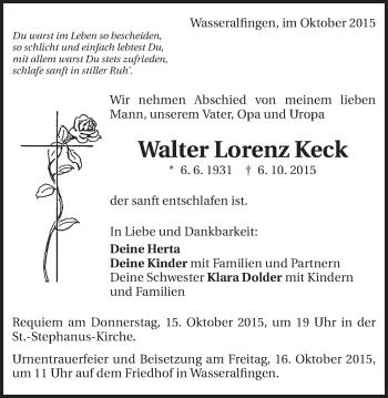 Zur Gedenkseite von Walter Lorenz