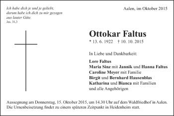 Zur Gedenkseite von Ottokar