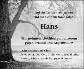 Zur Gedenkseite von Hans