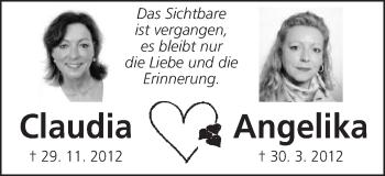 Zur Gedenkseite von Angelika und Claudia Kretzer