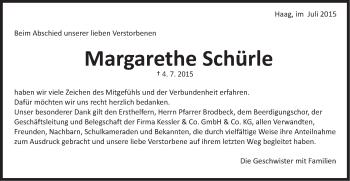 Zur Gedenkseite von Margarethe