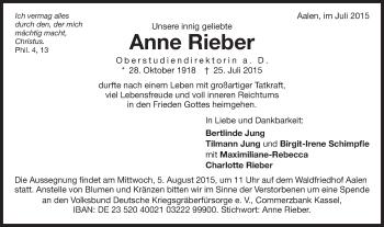 Zur Gedenkseite von Anne
