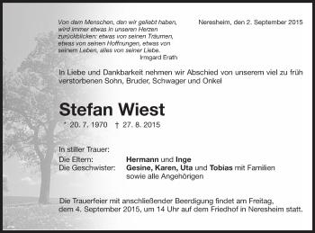 Zur Gedenkseite von Stefan