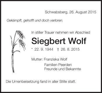 Zur Gedenkseite von Siegbert